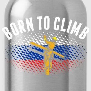 Born To Climb Russian Lineman - Water Bottle