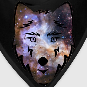 Cosmic Space Wolf Shirt - Bandana