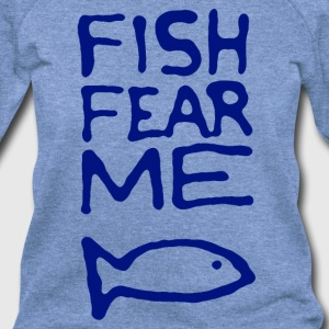 Fish Fear Me Fisherman Shirt - Women's Wideneck Sweatshirt