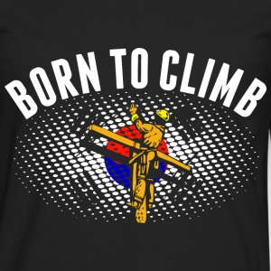 Born To Climb Korean Lineman - Men's Premium Long Sleeve T-Shirt