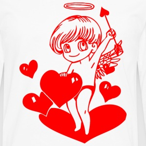 valentines day cupid angel 24 - Men's Premium Long Sleeve T-Shirt