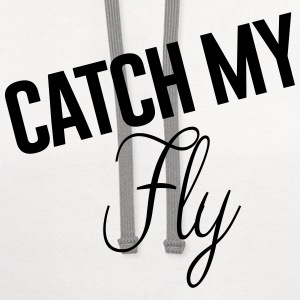 CATCH FLY WOMEN'S PREMIUM SHORT SLEEVE - #beyonce  - Contrast Hoodie