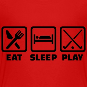 Eat sleep play field hockey Kids' Shirts - Toddler Premium T-Shirt