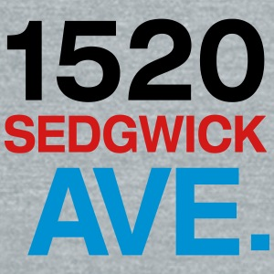 1520 SEDGWICK AVE. Caps - Unisex Tri-Blend T-Shirt by American Apparel