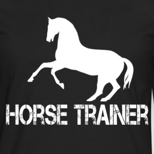 horse trainer - Men's Premium Long Sleeve T-Shirt