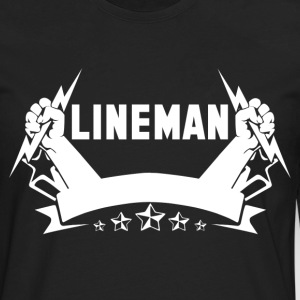 lineman lineman barn i love my lineman football - Men's Premium Long Sleeve T-Shirt