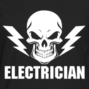 Electrician stupid electrician funny electricia - Men's Premium Long Sleeve T-Shirt