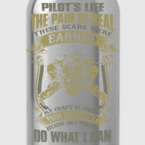 pilot helicopter pilot pilot aeroplane twenty on - Water Bottle