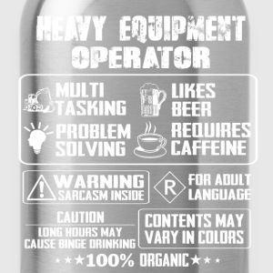 Heavy Equipment Operator heavy equipment operato - Water Bottle