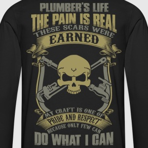 plumber carpenter plumber plumber crack disguise - Men's Premium Long Sleeve T-Shirt