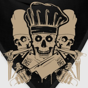 Chef master chef chef skull and cleavers chef (m - Bandana