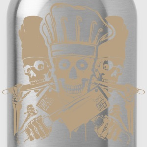 Chef master chef chef skull and cleavers chef (m - Water Bottle
