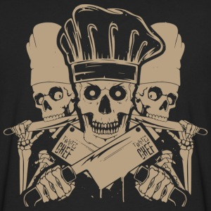 Chef master chef chef skull and cleavers chef (m - Men's Premium Long Sleeve T-Shirt