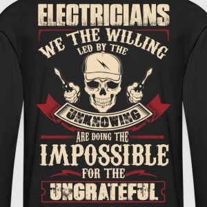 Electrician stupid electrician funny electrician - Men's Premium Long Sleeve T-Shirt