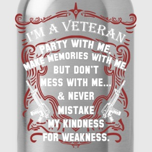 Veteran iraq veteran army veteran afghanistan v - Water Bottle