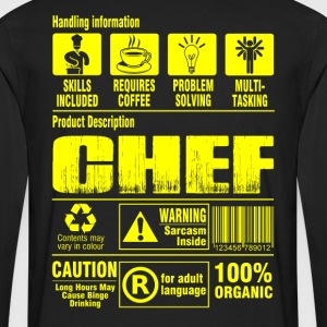 Chef pastry chef pampered chef cook chef grillma - Men's Premium Long Sleeve T-Shirt