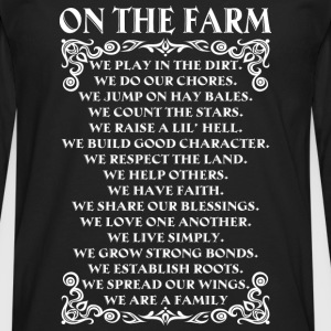Farmer piglet farmer no farmers no food farmer' - Men's Premium Long Sleeve T-Shirt