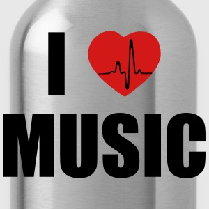 I love music heart T-Shirts - Water Bottle