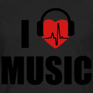 I love music dj HEADPHONE Women's T-Shirts - Men's Premium Long Sleeve T-Shirt