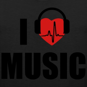 I love music dj HEADPHONE T-Shirts - Men's Premium Tank