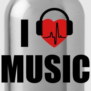 I love music dj HEADPHONE Women's T-Shirts - Water Bottle