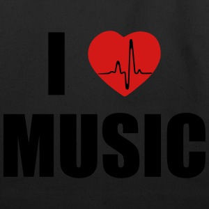 I love music heart T-Shirts - Eco-Friendly Cotton Tote