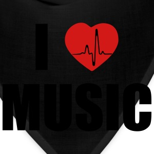 I love music heart T-Shirts - Bandana