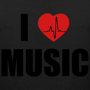I love music heart T-Shirts - Men's Premium Tank