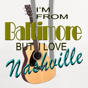 Love Nashville from Baltimore Women's T-Shirt - Contrast Hoodie