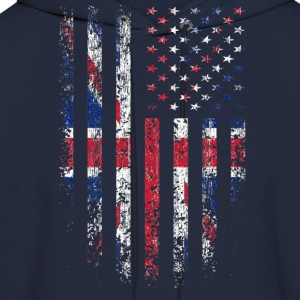 UK US Flag Grunge Long Sleeve Shirts - Men's Hoodie