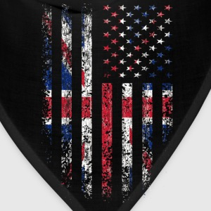 UK US Flag Grunge Long Sleeve Shirts - Bandana