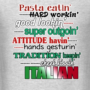 Italians Pasta Lover Italian Heritage T-shrit Tanks - Men's T-Shirt