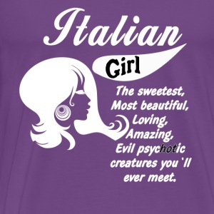 Italian girl Italian Heritage T-shirt Tanks - Men's Premium T-Shirt