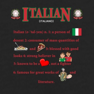 Italians descent Italian Heritage T-shirt Mugs & Drinkware - Men's Premium Long Sleeve T-Shirt