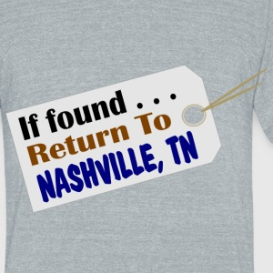 Nashville Lost & Found Travel Mug - Unisex Tri-Blend T-Shirt by American Apparel