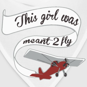 Girl Meant 2 Fly Banner Baby Bodysuits - Bandana