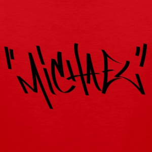 Michael Graffiti Name - Men's Premium Tank