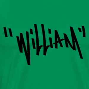 William Graffiti Name - Men's Premium T-Shirt