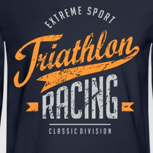 Triathlon Racing Extreme Sport T-Shirts - Men's Long Sleeve T-Shirt