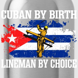 Cuban By Birth Lineman By Choice - Water Bottle
