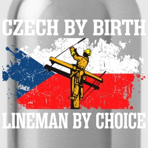 Czech By Birth Lineman By Choice - Water Bottle