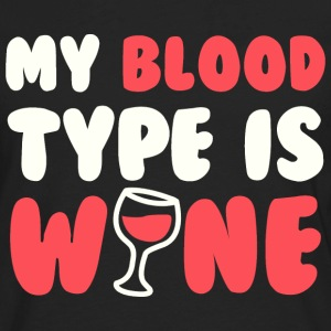 My blood type is wine - Men's Premium Long Sleeve T-Shirt