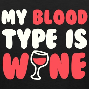 My blood type is wine - Men's Premium Tank