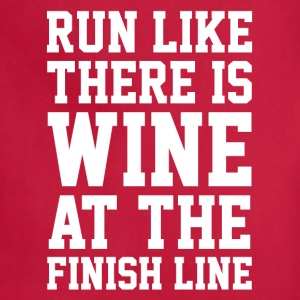 Wine at the finish line - Adjustable Apron