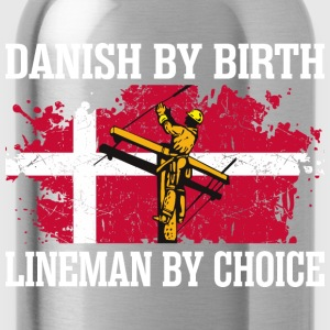Danish By Birth Lineman By Choice - Water Bottle