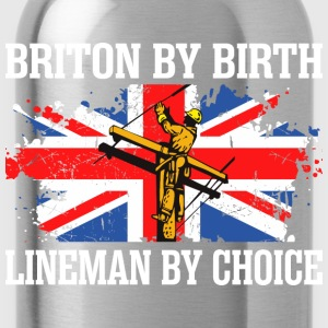 Briton By Birth Lineman By Choice - Water Bottle
