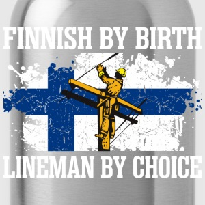 Finnish By Birth Lineman By Choice - Water Bottle
