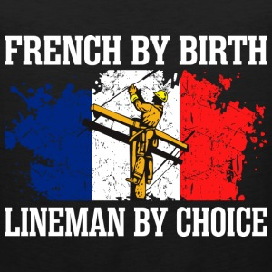 French By Birth Lineman By Choice - Men's Premium Tank