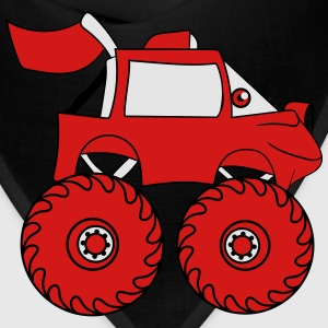 monstertruck comic eyes face cartoon cars T-Shirts - Bandana