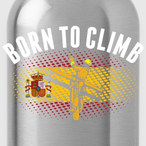 Born To Climb Spanish Lineman - Water Bottle